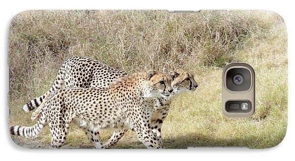 Galaxy Case featuring the photograph Cheetah Trot 2 by Fraida Gutovich