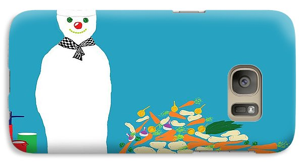 Galaxy Case featuring the digital art Chef Snowman by Barbara Moignard
