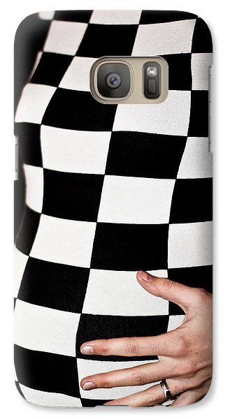Galaxy Case featuring the photograph Chequered Pregnancy by Gabor Pozsgai