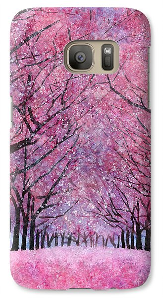 Galaxy Case featuring the painting Cherry Blast by Hailey E Herrera