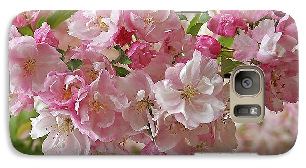 Galaxy Case featuring the photograph Cherry Blossom Closeup by Gill Billington