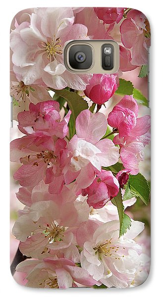 Galaxy Case featuring the photograph Cherry Blossom Closeup Vertical by Gill Billington