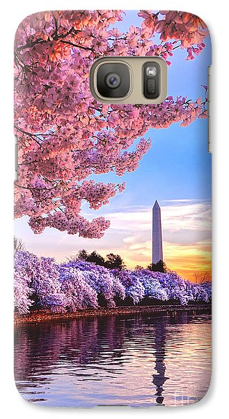 Cherry Blossom Festival  Galaxy S7 Case by Olivier Le Queinec