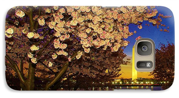 Cherry Blossom Washington Monument Galaxy S7 Case