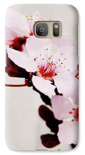 Galaxy Case featuring the mixed media Cherry Blossoms 1- Art By Linda Woods by Linda Woods