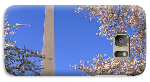 Cherry Blossoms And Washington Galaxy S7 Case by Panoramic Images