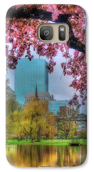 Galaxy Case featuring the photograph Cherry Blossoms Over Boston by Joann Vitali
