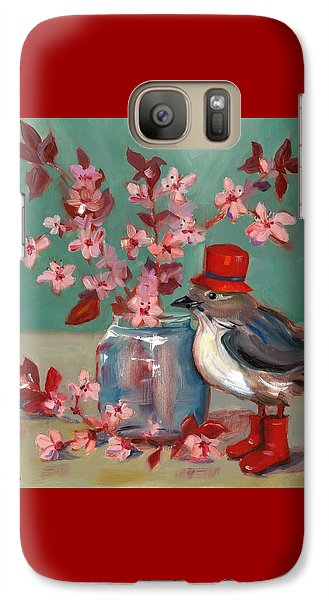 Galaxy Case featuring the painting Cherry Blossoms by Susan Thomas
