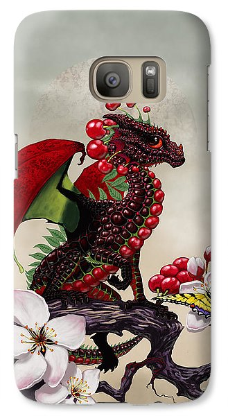 Galaxy Case featuring the digital art Cherry Dragon by Stanley Morrison