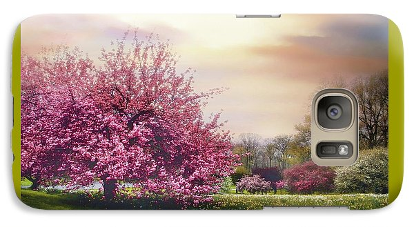 Galaxy Case featuring the photograph Cherry Orchard Hill by Jessica Jenney