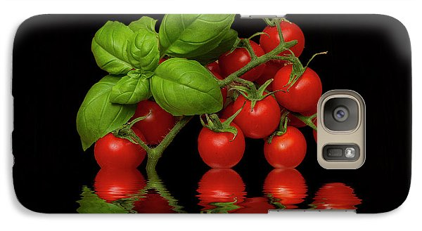 Galaxy Case featuring the photograph Cherry Tomatoes And Basil by David French