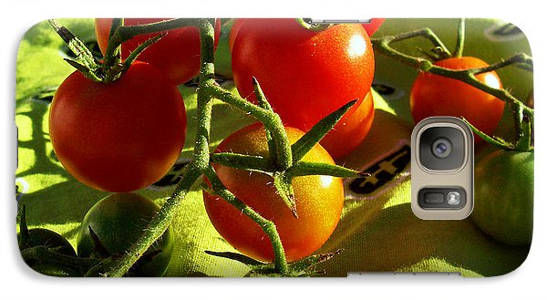 Galaxy Case featuring the photograph Cherry Tomatoes by Shawna Rowe