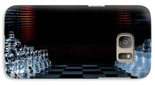Galaxy Case featuring the photograph Chess Game Performed By Artificial Intelligence by Christian Lagereek