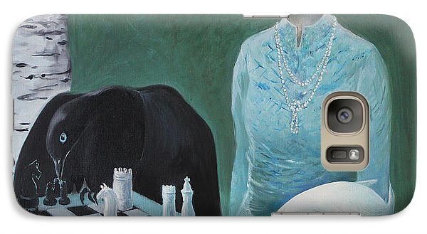 Galaxy Case featuring the painting Chess - The Queen Waits by Tone Aanderaa