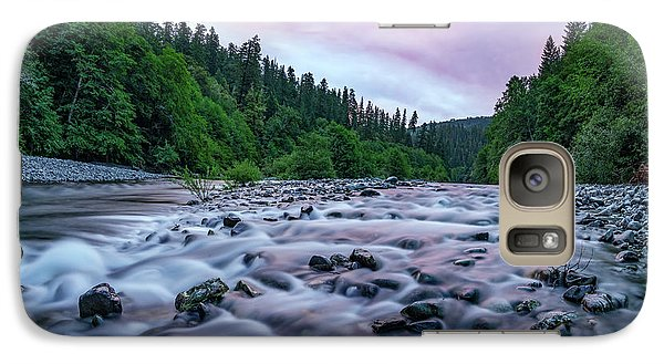 Galaxy Case featuring the photograph Chetco River Sunset 2 by Leland D Howard