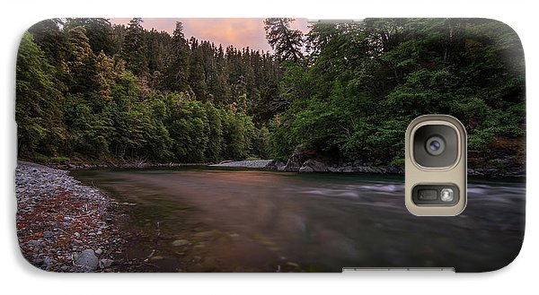Galaxy Case featuring the photograph Chetco River Sunset by Leland D Howard