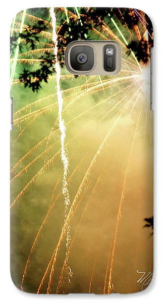 Galaxy Case featuring the photograph Chetola Yellow Fireworks by Meta Gatschenberger