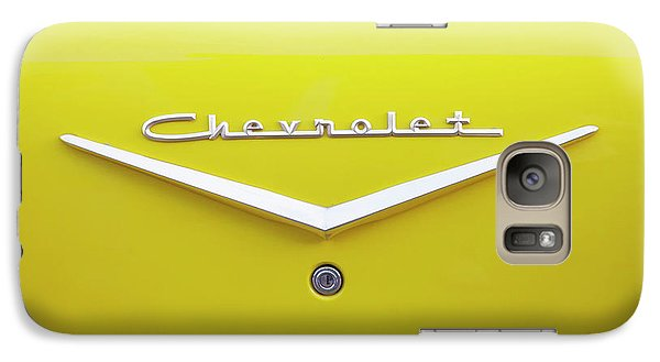 Galaxy Case featuring the photograph Chevrolet Bel Air In Yellow by Toni Hopper