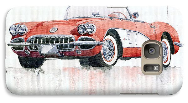 Chevrolet Corvette C1 1960  Galaxy S7 Case by Yuriy  Shevchuk
