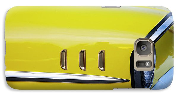 Galaxy Case featuring the photograph Chevy Bel Air Abstract In Yellow by Toni Hopper