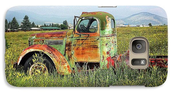 Galaxy Case featuring the mixed media Chevy In A Field by Terry Rowe