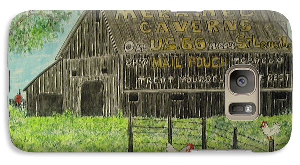 Galaxy Case featuring the painting Chew Mail Pouch Barn by Kathy Marrs Chandler