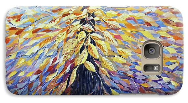 Galaxy Case featuring the painting Chi Of The Mighty Tree by Joanne Smoley