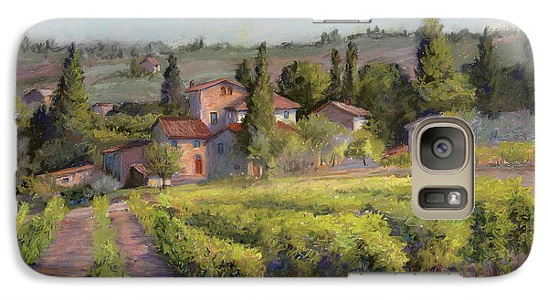 Galaxy Case featuring the painting Chianti Vineyard by Vikki Bouffard