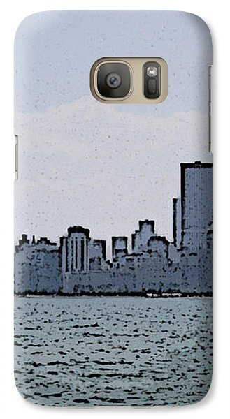 Galaxy Case featuring the photograph Chicago Across Lake Michigan by Skyler Tipton