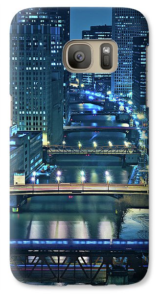 Architecture Galaxy S7 Case - Chicago Bridges by Steve Gadomski