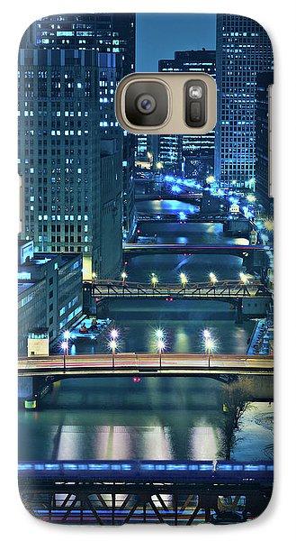 City Scenes Galaxy S7 Case - Chicago Bridges by Steve Gadomski