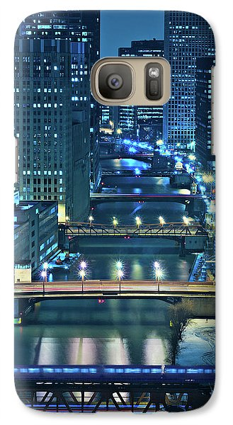 Chicago Bridges Galaxy Case by Steve Gadomski