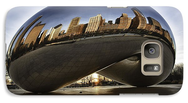Chicago Cloud Gate At Sunrise Galaxy S7 Case