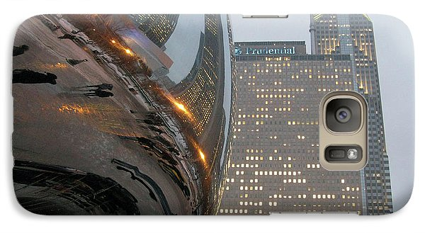 Galaxy Case featuring the photograph Chicago Cloud Gate. Reflections by Ausra Huntington nee Paulauskaite