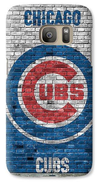 City Scenes Galaxy S7 Case - Chicago Cubs Brick Wall by Joe Hamilton