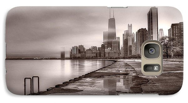 Chicago Foggy Lakefront Bw Galaxy Case by Steve Gadomski