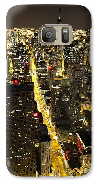 Galaxy Case featuring the photograph Chicago Is Always Alive by Shawn Everhart