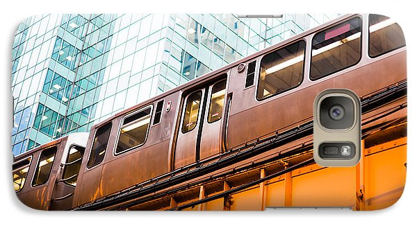 Chicago L Elevated Train  Galaxy Case by Paul Velgos