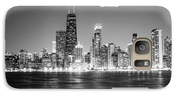 Chicago Lakefront Skyline Black And White Photo Galaxy S7 Case