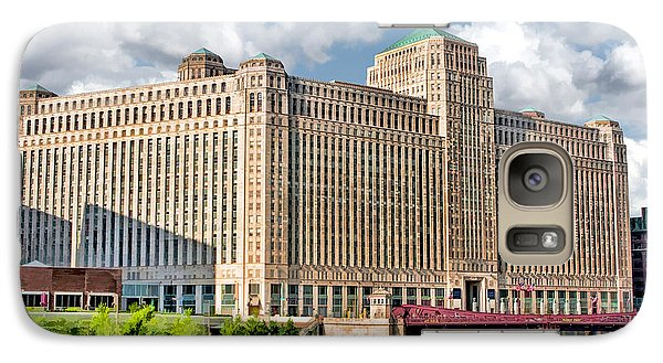 Galaxy S7 Case featuring the painting Chicago Merchandise Mart by Christopher Arndt