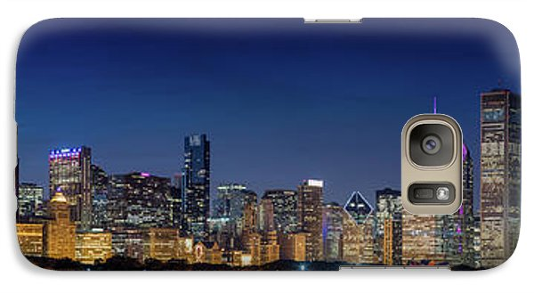 Galaxy Case featuring the photograph Chicago Skyline After Sunset by Emmanuel Panagiotakis
