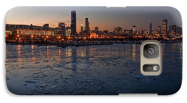 Chicago Skyline At Dusk Galaxy Case by Sven Brogren