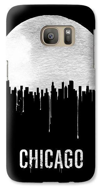 Chicago Skyline Black Galaxy S7 Case by Naxart Studio