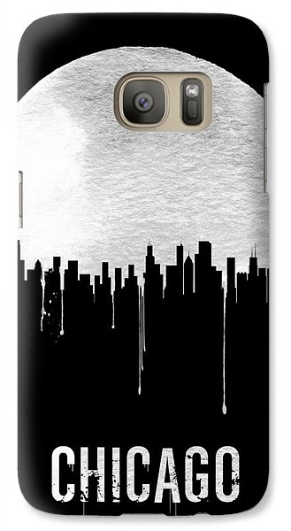 Chicago Skyline Black Galaxy Case by Naxart Studio