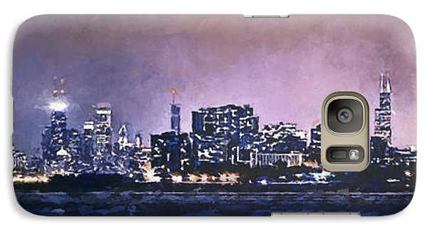 Chicago Skyline From Evanston Galaxy S7 Case