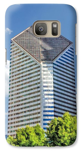 Galaxy Case featuring the painting Chicago Smurfit-stone Building by Christopher Arndt