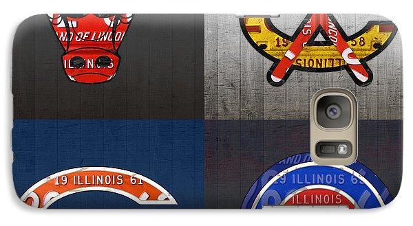 Chicago Sports Fan Recycled Vintage Illinois License Plate Art Bulls Blackhawks Bears And Cubs Galaxy S7 Case