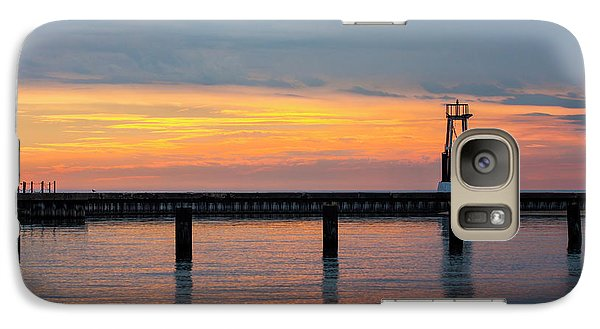 Galaxy Case featuring the photograph Chicago Sunrise At North Ave. Beach by Adam Romanowicz