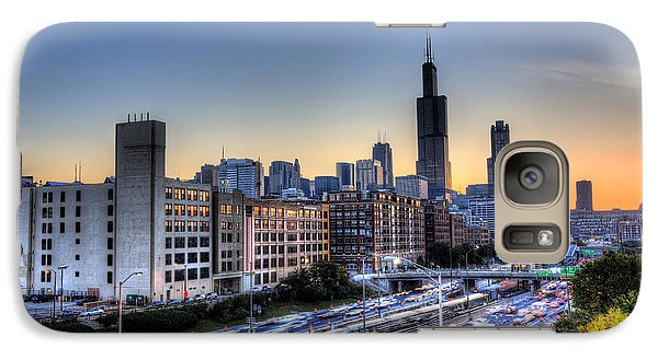 Galaxy Case featuring the photograph Chicago Sunrise Rush Hour by Shawn Everhart