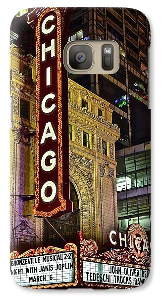 Soldier Field Galaxy S7 Case - Chicago Theater Aglow by Frozen in Time Fine Art Photography